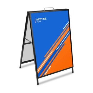 Metal A-frame signs