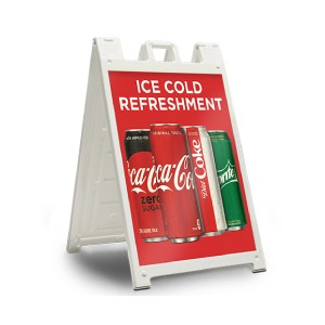 Plastic A-frame signs