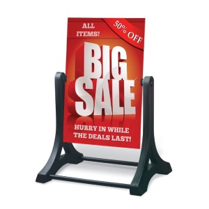 Wind resistant A-frame signs