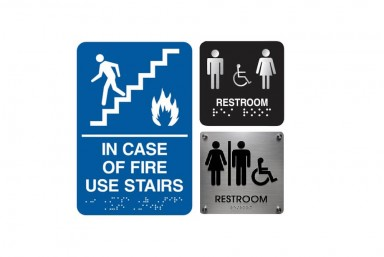 Wayfinding and Safety Signs