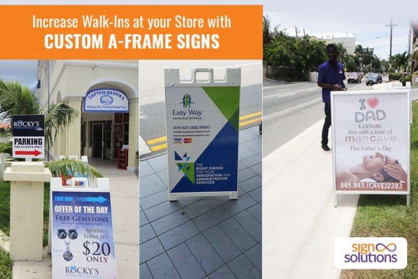 Increase Walk-Ins at your Store with Custom A-Frame Signs